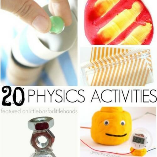 Simple physics activities and experiments for kids to try at home or in the classroom