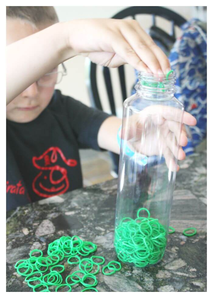 TMNT Sensory Bottle Fine Motor Loom Band