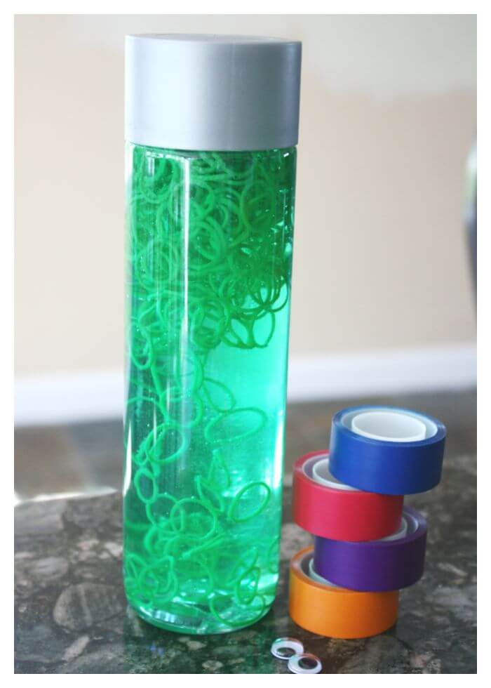 TMNT Sensory Bottle Teenage Mutant Ninja Turtle Activity