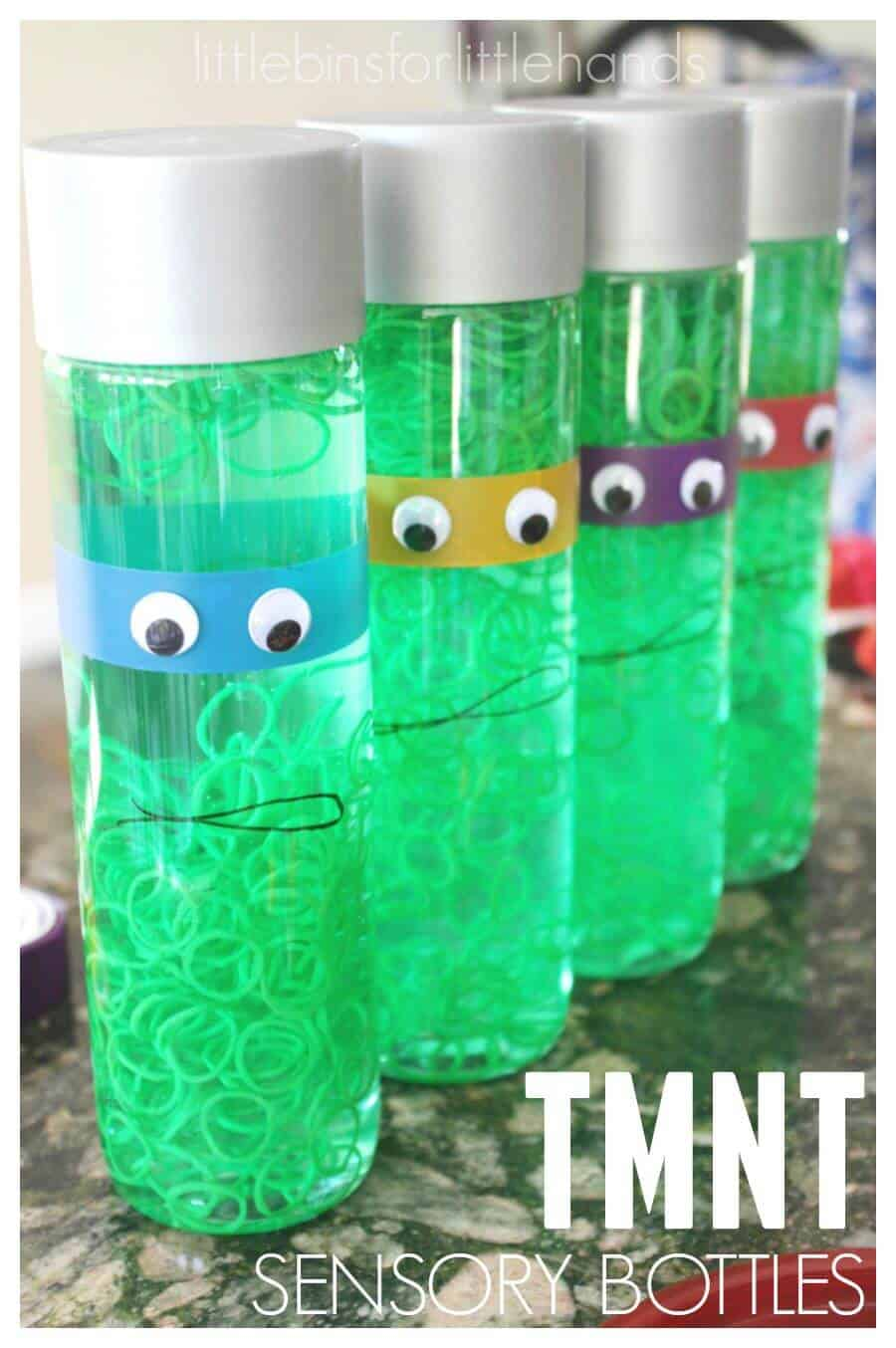 Teenage Mutant Ninja Turtle Sensory Bottle Activity