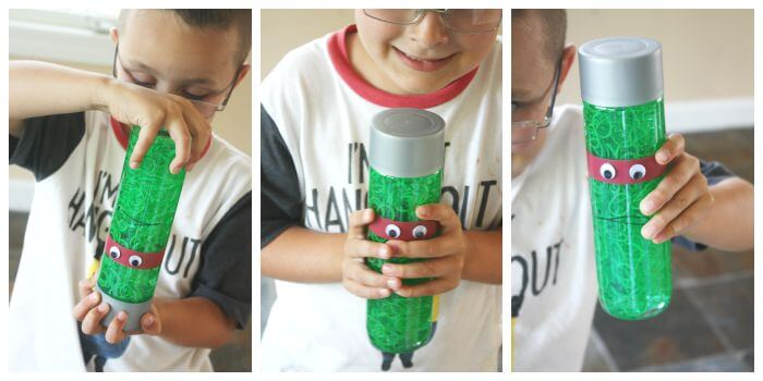Teenage Mutant Ninja Turtle Sensory Bottle Play