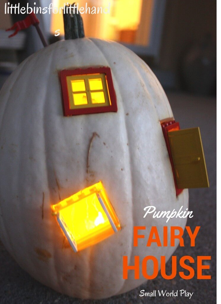 Light Up Pumpkin Fairy House Small World Pretend Play LEGO