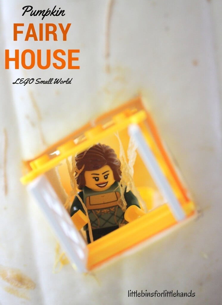 White Pumpkin Fairy House with LEGO Minifigures