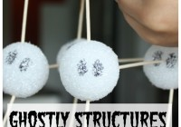 Ghostly Structures Halloween STEM Building Styrofoam Ball Structures