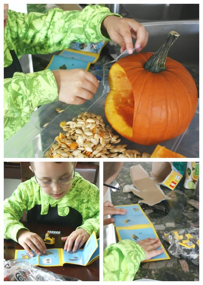 LEGO Pumpkin Play Construction Mining STEM Play