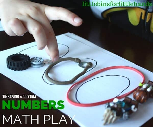Number Building with Loose Parts Math Activity