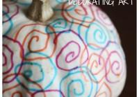 Pumpkin Decorating Art Process