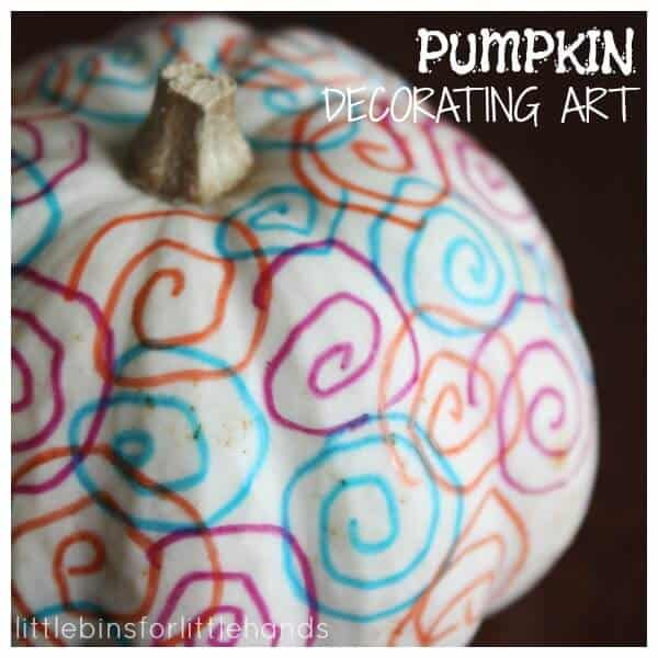 Pumpkin Decorating Art Process