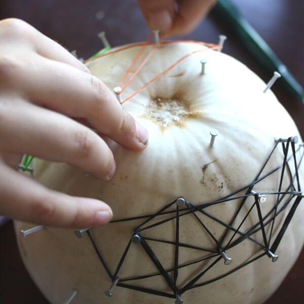 Pumpkin Geoboard Activity