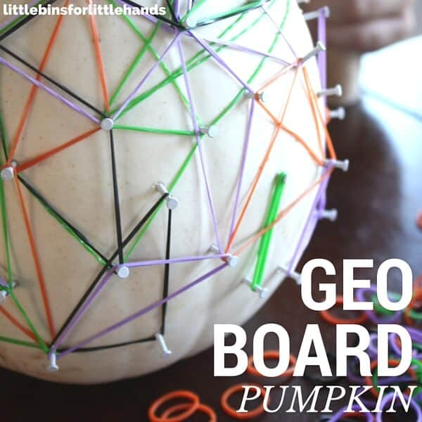 Pumpkin Geoboard White Pumpkin STEM