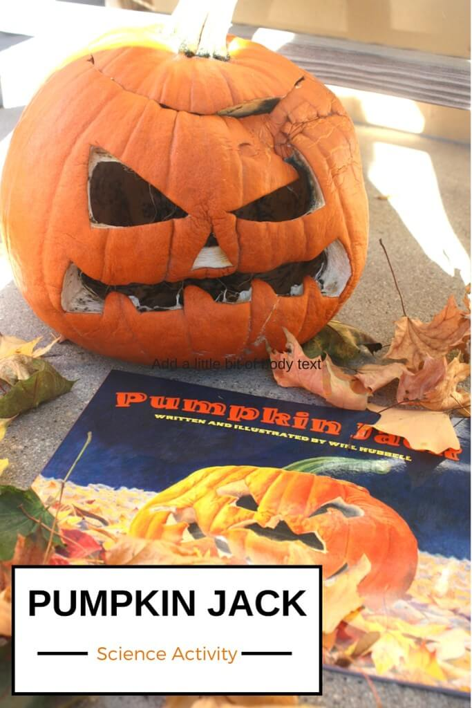 Pumpkin Jack Book Science Activity Rotting and Life Cycle Science