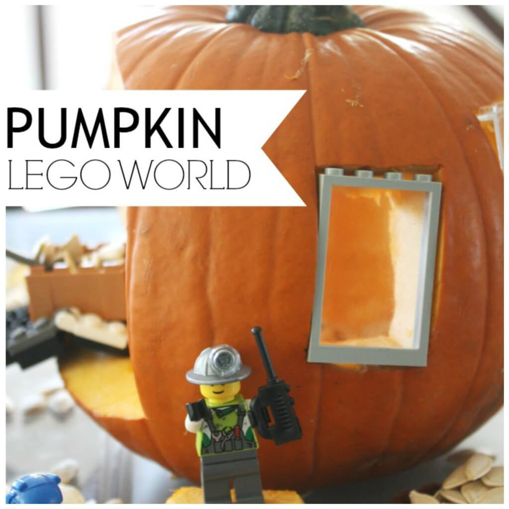 Preschool Pumpkin activity - Pumpkin LEGO World Fall STEM