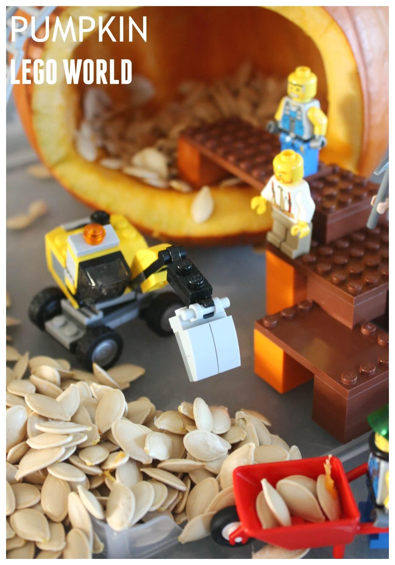 Pumpkin Play Fall Stem Pumpkin Lego Small World