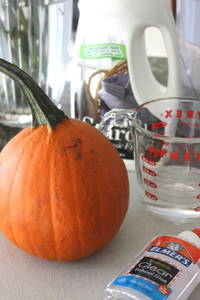 How to make pumpkin slime supplies with clear glue slime