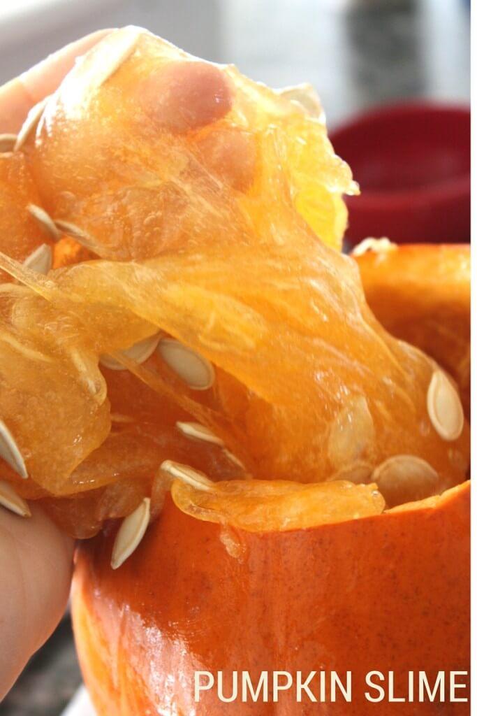Pumpkin slime after mixing slime