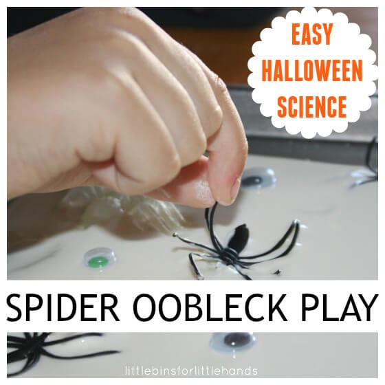 Spider Oobleck Cornstarch Goop