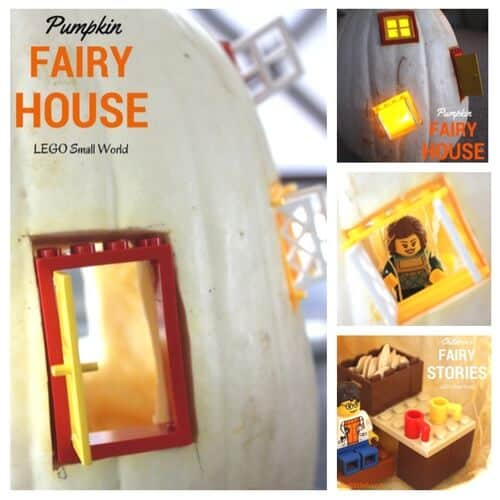 Pumpkin activities - white-pumpkin-fairy-house