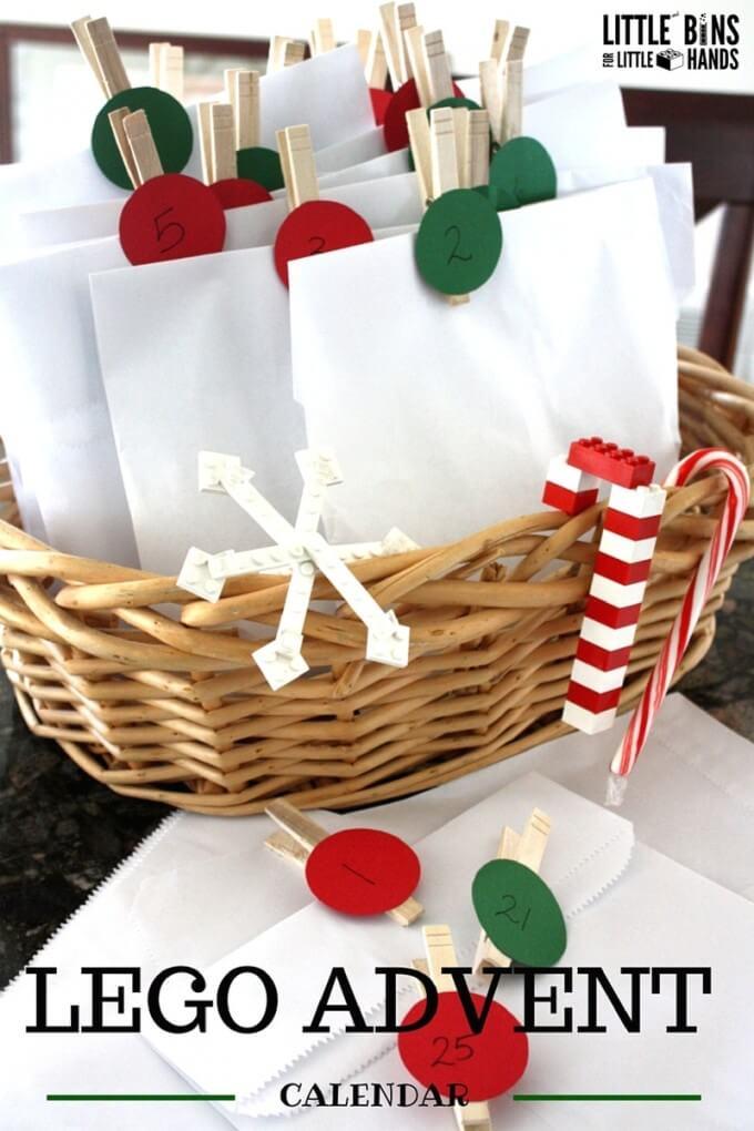 LEGO Christmas Countdown Calendar Basket