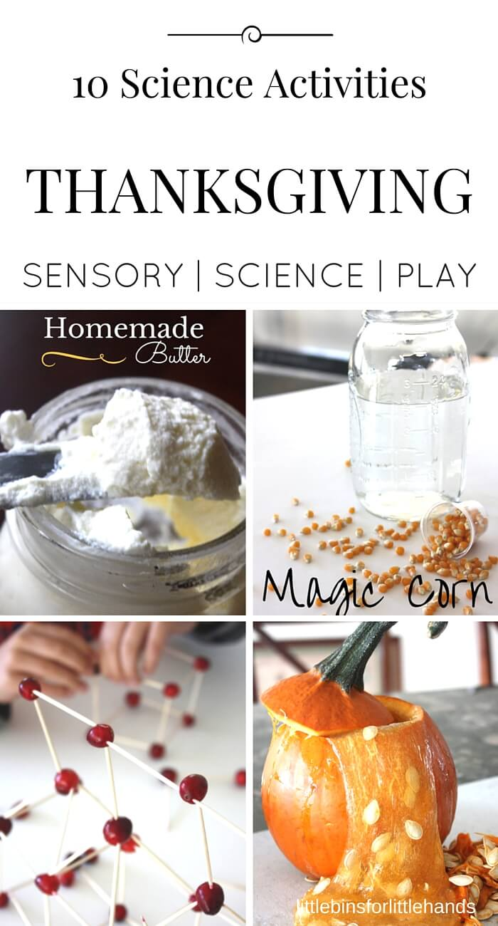 Thanksgiving Science Activities and STEM Projects and Experiments for Kids