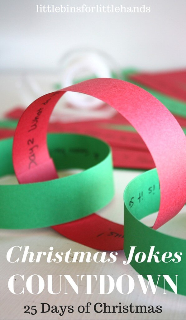 25 Days of Christmas Jokes Countdown Calendar and Advent Idea for Kids