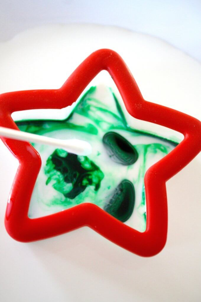 Christmas Magic Milk Science with Dishsoap