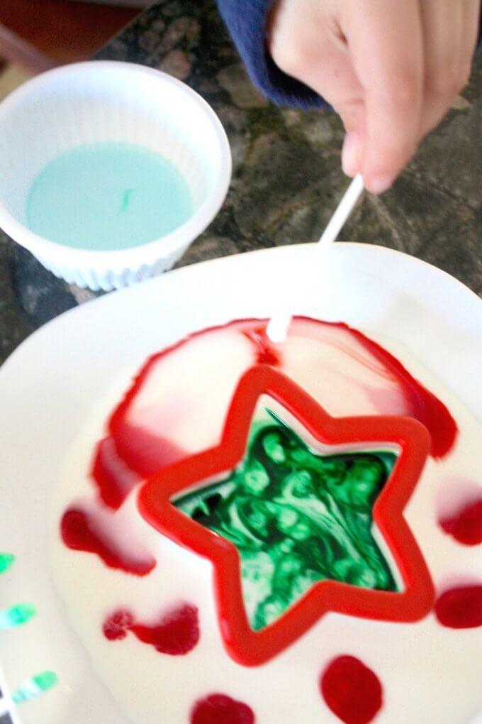 Santa Science and Christmas Magic Milk Science
