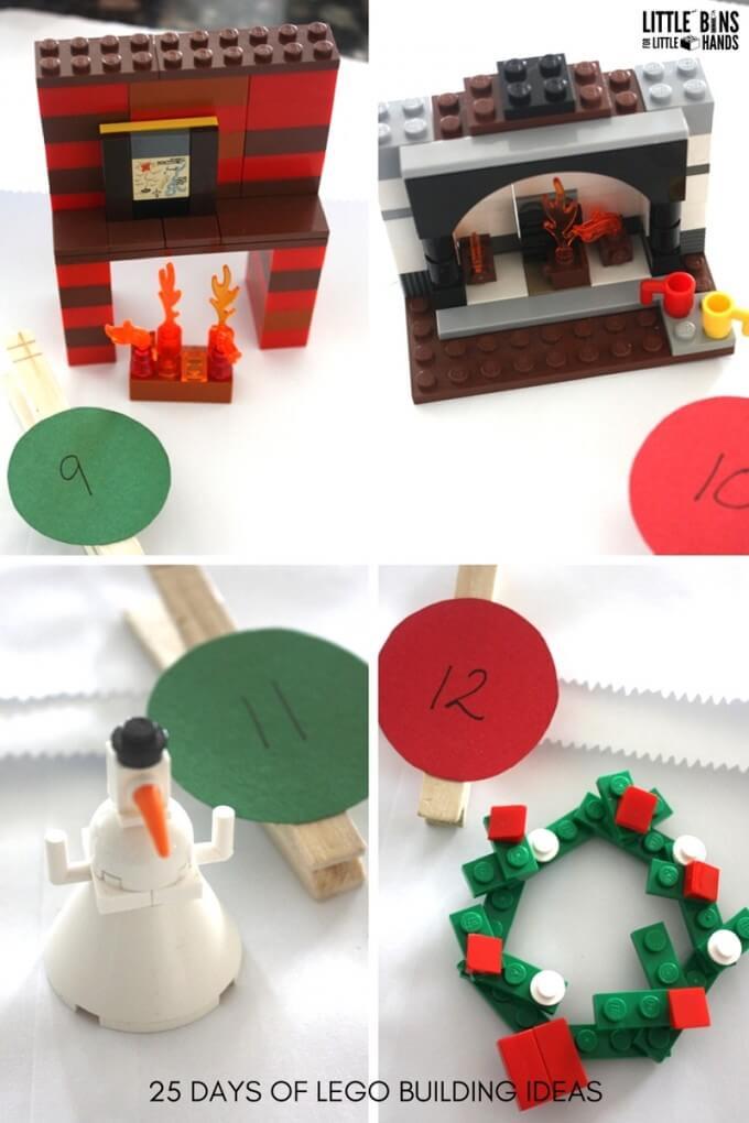 LEGO Christmas Building Ideas for Advent calendar Days 9-12