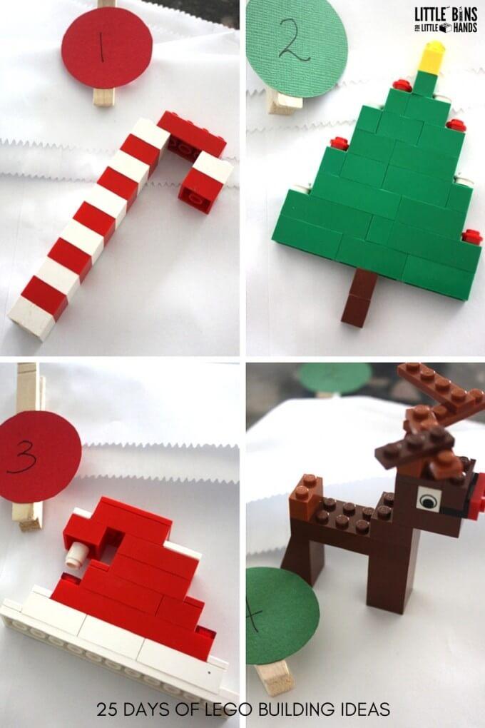 LEGO Christmas Building Ideas Days 1-4 Advent