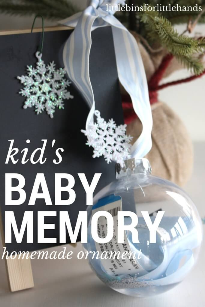 Homemade Christmas Ornaments For Babies : Baby memory ornament homemade christmas for kids