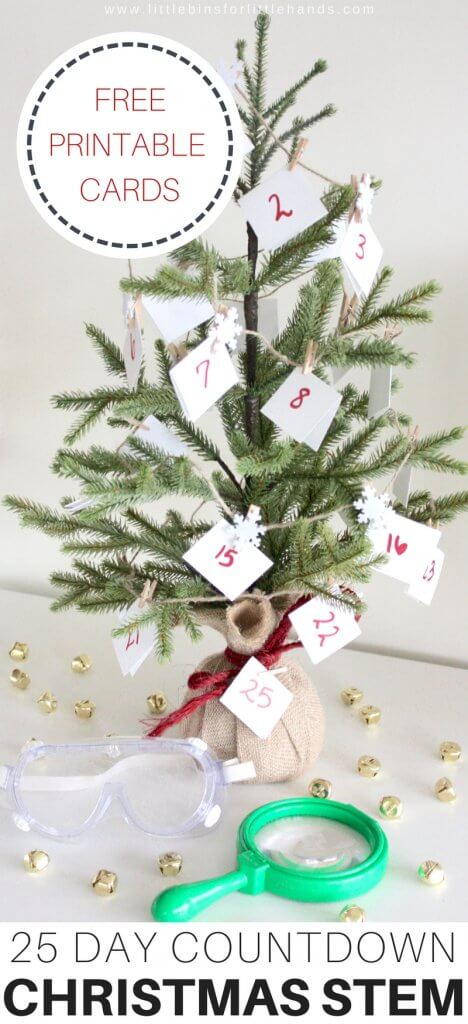 Countdown To 25 Days Of Christmas 2019.Christmas Stem Countdown Calendar Science Advent Idea