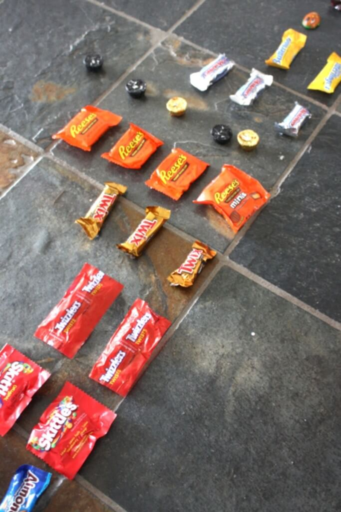 Candy math activity graphing types of candy to see what we have the most
