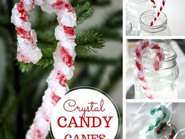 Christmas Crystal Candy Canes Science Activity