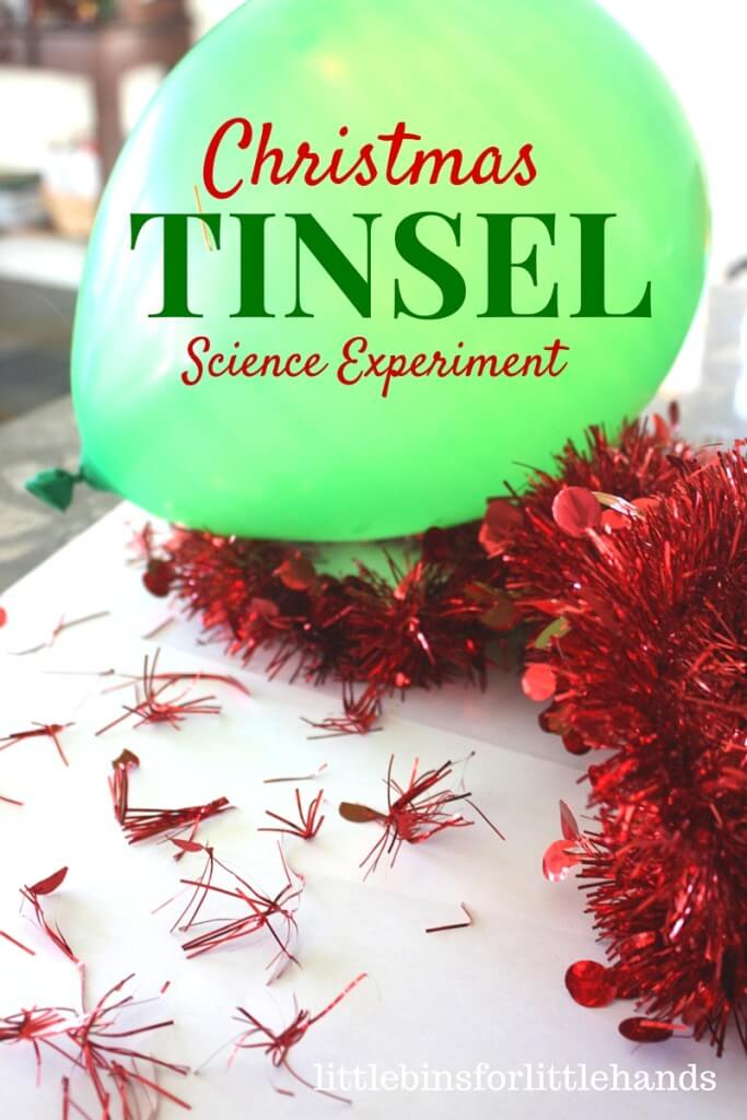 Christmas Jumping Tinsel Static Electricty Science Experiment