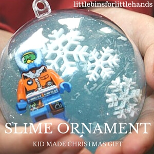 Christmas SLIME Ornament GIFT Kid Made Gift for Christmas