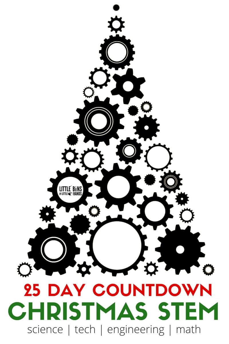 Christmas STEM Countdown Activities for Kids