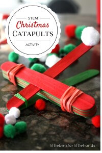 Christmas STEM Activity Simple Catapult