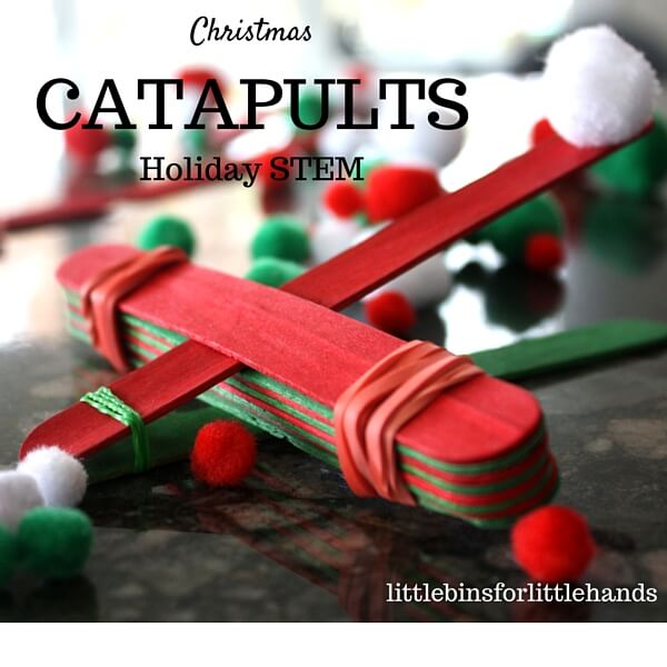 Christmas Simple Catapult Holiday STEM