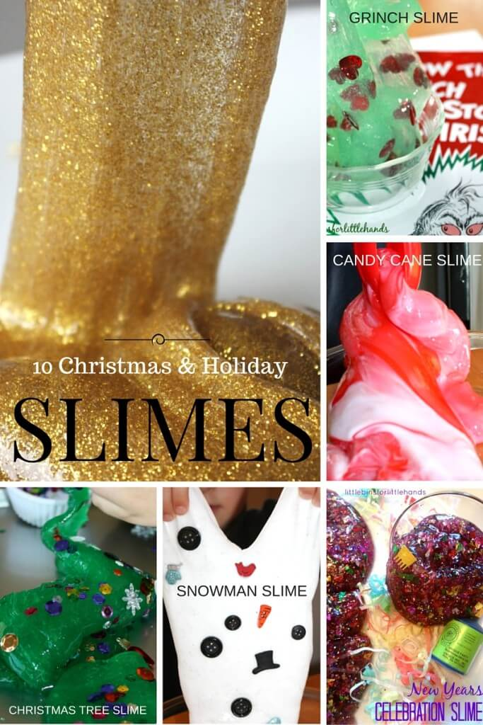 Christmas Slime Holiday Slimes Winter New Years Snowflake Activities