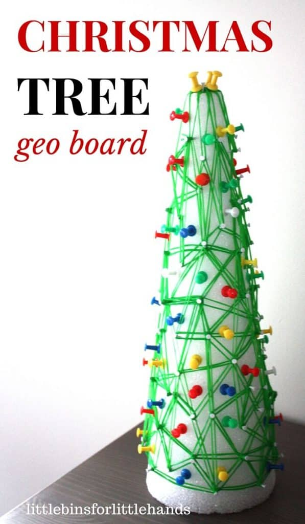Christmas Tree Geo board Math STEM Activity Fine Motor Play