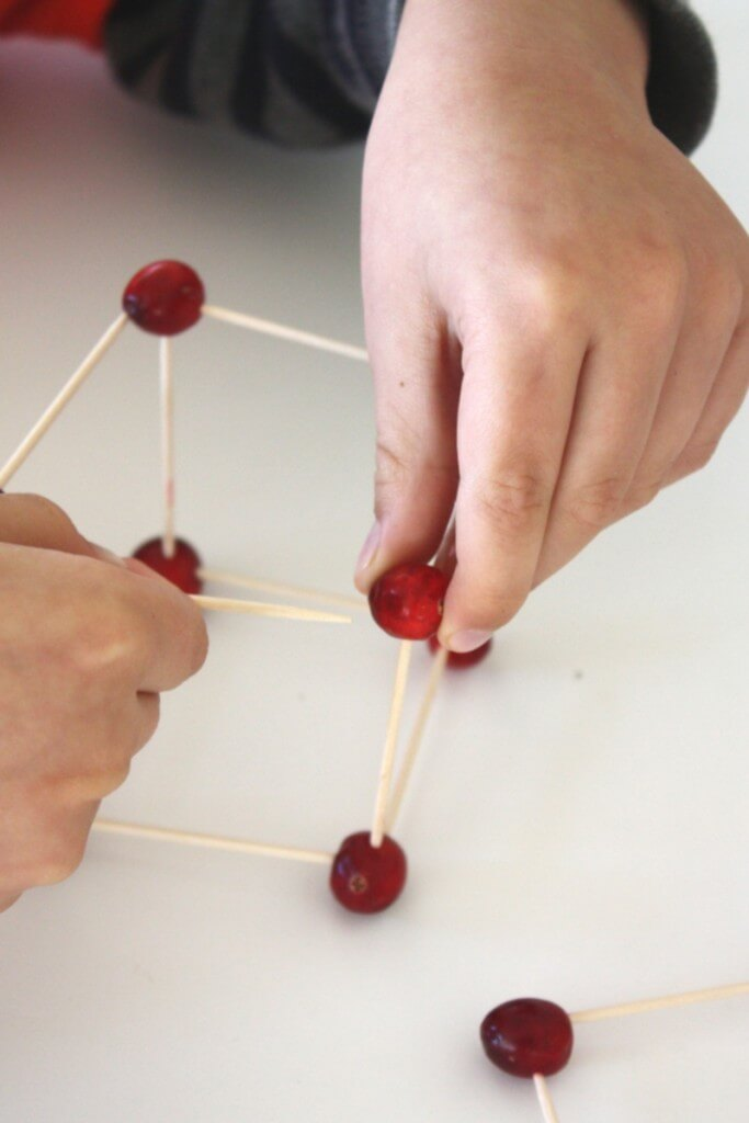 Cranberry Structures Thanksgiving Fine Motor Skills