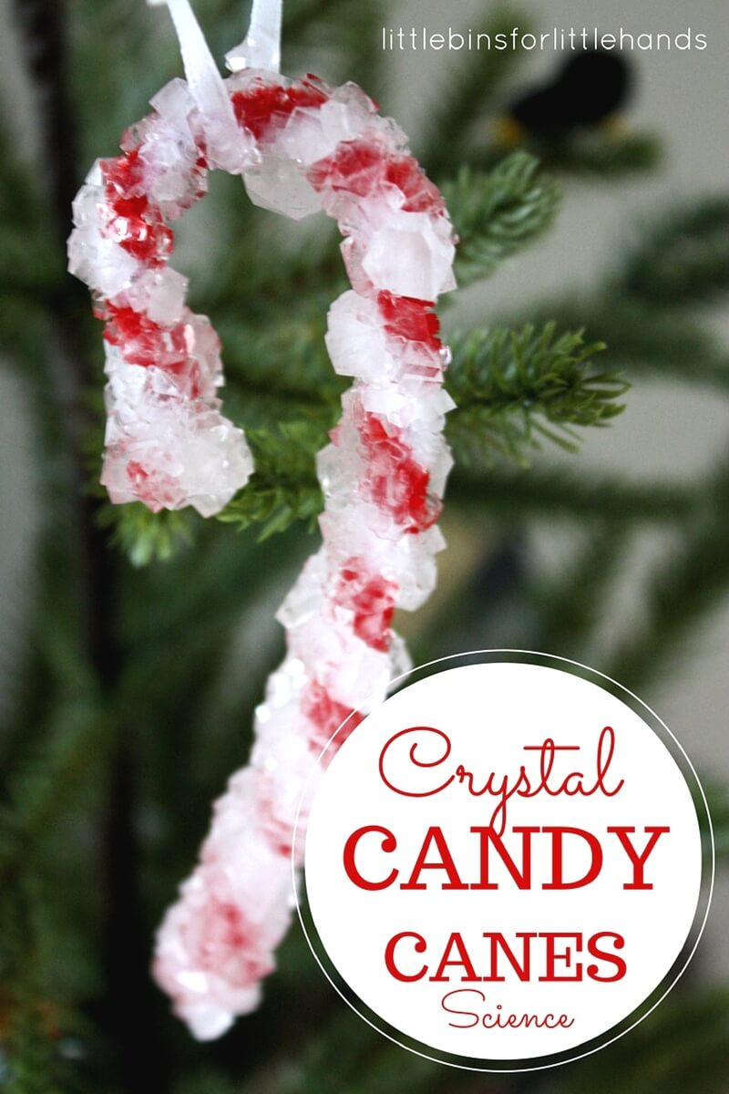 Large candy cane ornaments - Christmas Science Crystal Candy Canes