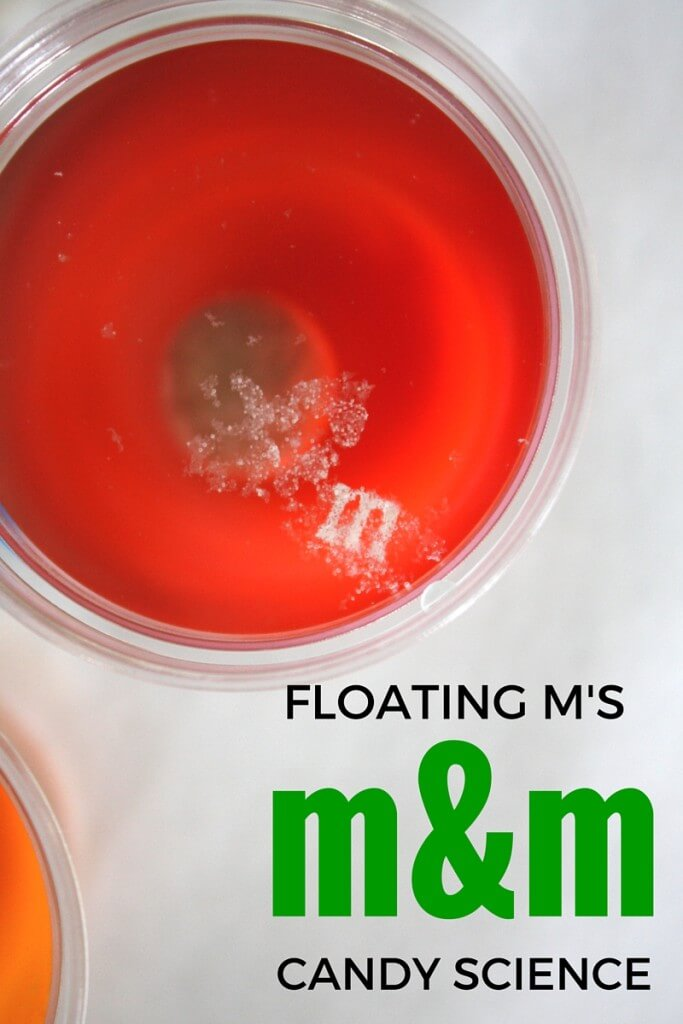 Floating m M&M candy activity