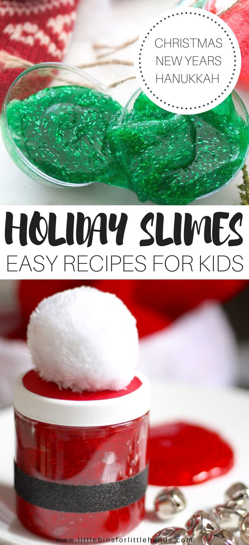 BEST HOLIDAY SLIMES FOR FUN CHRISTMAS SCIENCE ACTIVITIES TO DO WITH KIDS