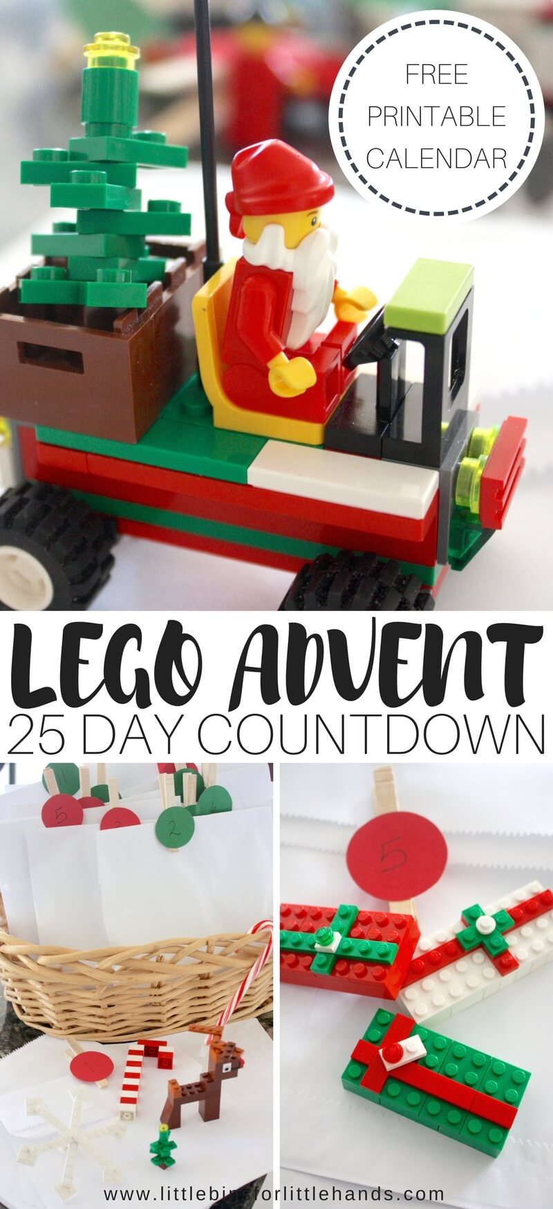 Lego advent calendar 25 days christmas countdown this holiday season put together a super simple diy lego advent calendar for a 25 days solutioingenieria Image collections