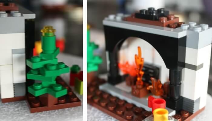 LEGO Christmas Advent Building Idea Fireplace