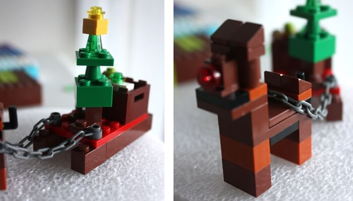 LEGO Christmas tree on sled