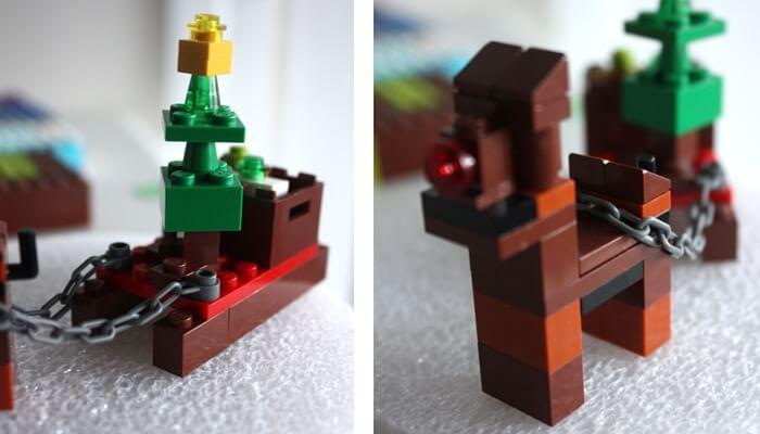 LEGO Christmas tree on sled