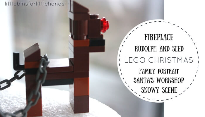 LEGO christmas LEGO Rudolph Sled | Little Bins for Little Hands