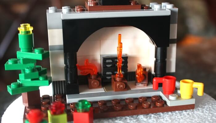LEGO fire place LEGO Advent Christmas