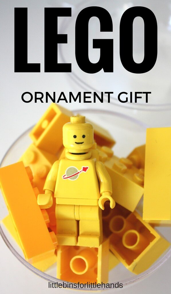 LEGO gift ornament and stocking stuffer for kids